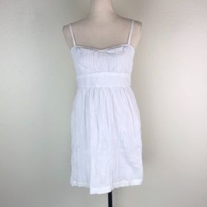 Johnathan Martin Pleated Textured Gauzy Dress